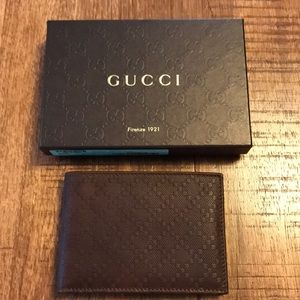 Gucci diamanté leather brown wallet- New In Box